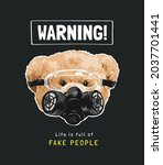 warning sign with bear doll in...   Shutterstock .eps vector #2037701441