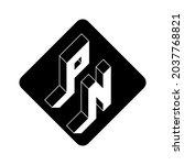 pn   2 letter code. p and n  ... | Shutterstock .eps vector #2037768821