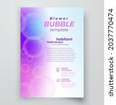 flyer bubble blower cover... | Shutterstock .eps vector #2037770474