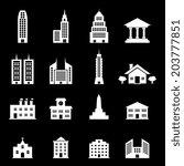 building vector   white | Shutterstock .eps vector #203777851