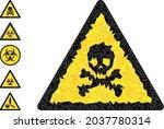 triangle death warning... | Shutterstock .eps vector #2037780314