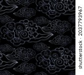 hand drawn seamless pattern... | Shutterstock .eps vector #2037793967