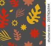autumn seamless pattern. autumn ...   Shutterstock .eps vector #2037826544