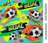 abstract seamless fooball...   Shutterstock .eps vector #2037836054