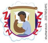 mascot person man afro...   Shutterstock .eps vector #2037852491