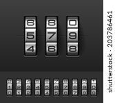 combination  code lock numbers. ... | Shutterstock .eps vector #203786461