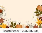 autumn leaves background. fall...   Shutterstock .eps vector #2037887831