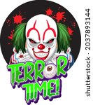 terror time text design with...   Shutterstock .eps vector #2037893144