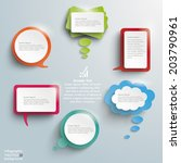 infographic design with colored ... | Shutterstock .eps vector #203790961