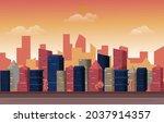 twilight afternoon city urban... | Shutterstock .eps vector #2037914357