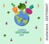 vector world vegetarian day... | Shutterstock .eps vector #2037930647