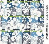 hibiscus flowers wallpaper  ... | Shutterstock .eps vector #203794321