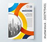 flyer cover circles theme... | Shutterstock .eps vector #2037975431