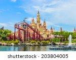 singapore   june 25  tourists... | Shutterstock . vector #203804005
