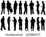 illustration of silhouette... | Shutterstock .eps vector #20380417