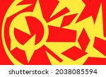 red and yellow abstract modern... | Shutterstock .eps vector #2038085594
