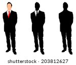 businessman standing straight... | Shutterstock .eps vector #203812627
