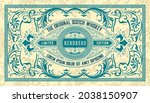 whiskey label with old frames   Shutterstock .eps vector #2038150907