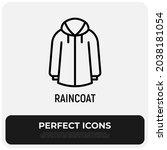 Raincoat Thin Line Icon ...