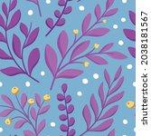 floral vector seamless pattern. ... | Shutterstock .eps vector #2038181567