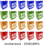 multicolored shopping bags ... | Shutterstock . vector #203818891