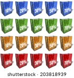 multicolored shopping bags ...   Shutterstock . vector #203818939
