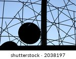 artistic shapes in front of a... | Shutterstock . vector #2038197