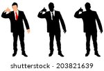 successful businessman showing... | Shutterstock .eps vector #203821639