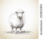 vector illustration sketch of... | Shutterstock .eps vector #203821801