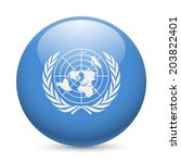 Flag Of United Nations As Roun...