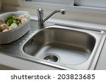 close up of washbasin in a... | Shutterstock . vector #203823685