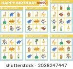 vector happy birthday bingo...   Shutterstock .eps vector #2038247447