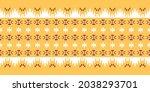 seamless vector border pattern. ...   Shutterstock .eps vector #2038293701