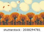 seamless horizontal frieze with ... | Shutterstock .eps vector #2038294781