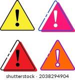 warning sign icon set   amazing ...