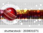 cricket ball | Shutterstock .eps vector #203831071