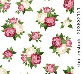 seamless vintage pattern with... | Shutterstock .eps vector #203832151