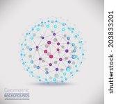 abstract geometric lattice  the ... | Shutterstock .eps vector #203833201