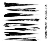 vector set of grunge brush... | Shutterstock .eps vector #203833615