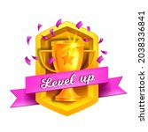 level up game vector icon ...