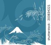 japan style illustration   card ...   Shutterstock .eps vector #203834221