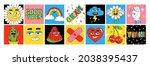 funny cartoon characters....   Shutterstock .eps vector #2038395437