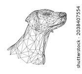 animal dog pet vector cute...   Shutterstock .eps vector #2038407554