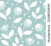 vector floral seamless pattern. ... | Shutterstock .eps vector #2038420034