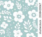 vector floral seamless pattern. ... | Shutterstock .eps vector #2038420067