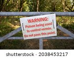 Warning Sign About Poison Being ...