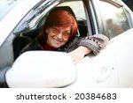 a smiling woman sitting in the... | Shutterstock . vector #20384683