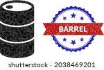 low poly barrel polygonal icon... | Shutterstock .eps vector #2038469201