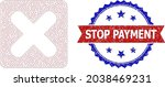 stop payment rubber seal  and... | Shutterstock .eps vector #2038469231