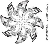 Dotted Halftone Vector Spiral...